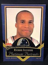 RICHARD JEFFERSON 2002-03 Fleer Platinum Portraits PATCH 2 Color JERSEY  #PP/RJ