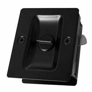 Matte Black Finish Square Pocket Door Pull Privacy Passage Lock
