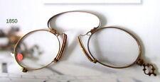 Luxus Gold Kneifer  Zwicker von Optiker Nachlass  1850 mit Leder Etui Sammlung