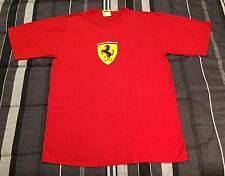 Vintage 90s 1996 Ferrari Racing Crest Logo Sports Car Red Shirt - Men's L Large