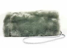 Kunstpelz Muff in Grau Silbergrau 100% Polyester