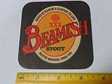 Vintage Beer Bar Coaster ~<>~ BEAMISH Genuine Irish XXX Stout ~ Established 1792