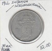 (M)  Token - Indiana - Sesquicentennial - 1966 - 39 MM Aluminum