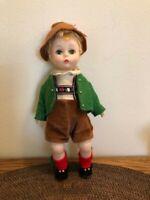 "Vintage Madame Alexander Tyrolean Boy 8""Doll, Jointed, Bent Knee Walker-Germany"