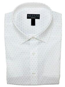 Alfani Mens Dress Shirt Classic White Size 17-17 1/2 Triangle Prism $60- 172
