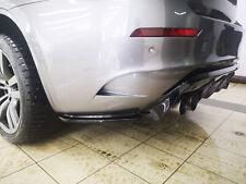 UNPAINTED REAR BUMPER SIDE SPLITTERS FOR BMW E71 X6M 2010 - 2014 ABS PARSAN