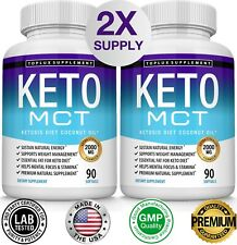 Keto MCT Diet Pills 2000 MG (180 CAPSULES) Weight Loss Fat Burner Supplement