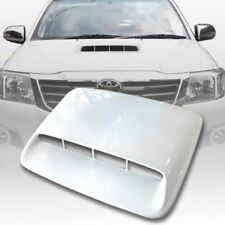 BONNET HOOD SCOOP COVER WHITE FIT FOR TOYOTA HILUX VIGO CHAMP MK7 2012-2014