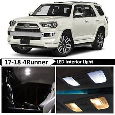 For 2017 2018 Toyota 4Runner White Interior License Plate LED Lights Package Kit
