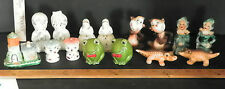 8 VINTAGE SETS OF MISC. SALT AND PEPER SHAKERS (3PC HOUSE, MONKEYS) 5485E