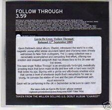(D763) Gavin De Graw, Follow Through - DJ CD