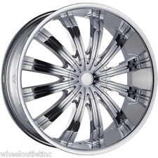 "24"" Chrome Phino PW 38 Rims Wheels Tires Navigator MARK LT Ford Expedition 22 20"