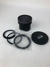 PHD Optics .16x HD Ultra Fisheye Lens 58mm + 52 62 67 72  With Lens Adapters
