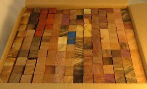"154 B-Grade Exotic Wood Pen Blanks ¾""x ¾""x5"" Exotic Wood Free Shipping B154"
