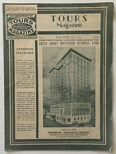 TOURS Magazine January 27, 1934 Weekly Information Guide For Travelers in TN