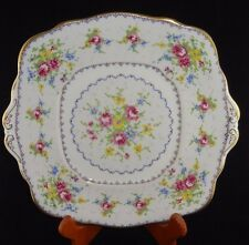 Royal Albert Petit Point Square Handled Cake Plate Made in England