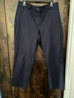 "TALBOTS WOMENS PANTS SIZE 10 ""The Perfect Crop"" Nautical Blue NWOT"