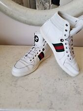 Authentic White Gucci High Top Sneakers (size 8 UK, 9-9.5 US)