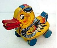 "VTG FIsher Price Wooden Pull Toy ""Gabby Duck""  1952-1953 #767 Made in USA HTF RA"