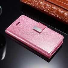 Luxury PU Leather Magnetic Flip Stand Bling Wallet Cover Case For iPhone Phones