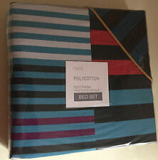 BN Next  Stripe Bed Set Double Size Soft Finish Printed Reversible