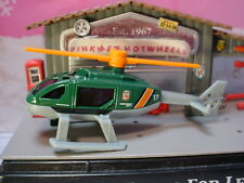 2019 WILDFIRE RESCUE Design RESCUE HELICOPTER☆green/gray/orange ☆Matchbox LOOSE