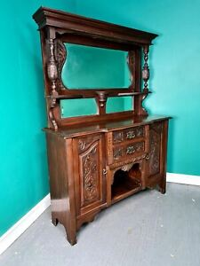 An Antique Art Nouveau Mahogany Dresser Sideboard ~Delivery Available~