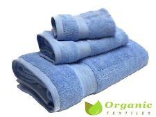 organic cotton bath towels  3pc set- Blue-Terry cloth |Organic Textiles