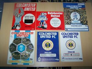 16 Football Programmes ~ Colchester United Home Matches - 1976 - 1997