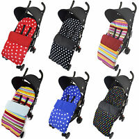 FOOTMUFF /COSY TOES COMPATIBLE WITH BUGGY PUSCHAIR BABY STRIPE/DOT/STAR