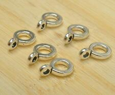 50pcs Tibetan Silver Charms Bail Connectors Beads Connector Bead Bails