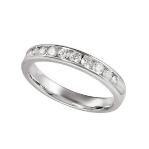 Gemsake 0.43 ctw Natural Certified Diamond Half Eternity band in Channel setting