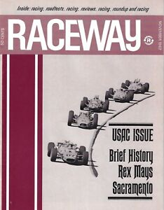 Raceway magazine  November 1967  Riverside, USAC, Indycars, Can-Am, Trans-Am