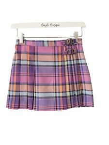 Girls NEXT Pink purple Tartan Pleat Skirt Ages 4, 8, 9, 10, 12 Years old