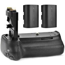 Battery Hand Grip for Canon EOS 70D 80D BG-E14 DSLR + 2 Batteries LP-E6 / BG-E14