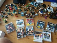 Mega PlayStation 3 Bundle Over 50 Skylander Pieces 5 Controllers and 11 games