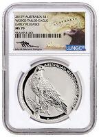 2017-P Australia $1 1 oz Silver Wedge Tailed Eagle NGC MS70 ER Mercanti SKU44919