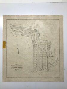 Antique Original 1915 Plan of Cedar Park Development, Stoneham, Massachusetts