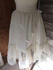 Vintage Old Half Petticoat Net FRILL  Dance Shabby Chic Flouncy
