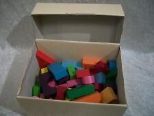 box of building blocks various shapes