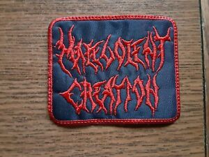 MALEVOLENT CREATION,SEW ON RED WITH RED EDGE EMBROIDERED PATCH
