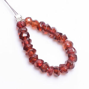 """100% Natural Hessonite Garnet Round Faceted Style Beads 4X4 mm Strand 2"""" NW-5735"""
