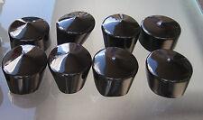 """100 - 2"""" Round Tubing End Cap Cover - Vinyl  PVC  Rubber Plastic Tube Pipe Cap"""