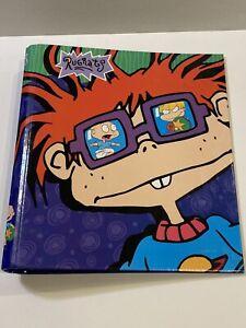 "VTG Nickelodeon 1998 Curveback Binder 1.5"" Metal Ring Chuckie Rugrats"