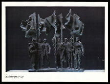 """Sculpture """"Warsaw Pact"""" Soldier different troop USSR Soviet Military Art Print"""