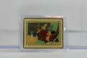 Disney Pin Mongolia Stamp Sorcerer's Apprentice Mickey Mouse