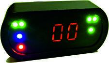 RACETRONICS Mini-Digital-Tacho mit LED-Kontrollleuchten- B-Ware ! schwarz elox.