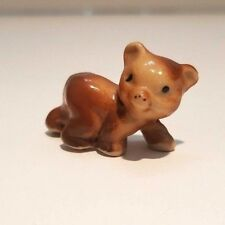 Vintage Hagen Renaker Miniature Mini Baby Brown Bear Ceramic Figurines