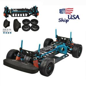 USA 1/10 RC Alloy & Metal Shaft Drive 4WD Touring Car Frame Kit For TAMIYA TT01