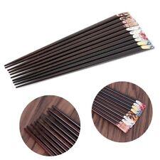 Japanese Style Chopsticks Printing Pointed Chop Sticks Wooden Tableware  1 Pair